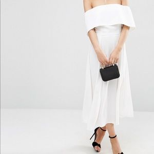 ASOS | Soft Off the Shoulder Bardot Midi Dress